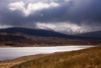 Vista do tempestuoso Highlands escocesas — Fotografia de Stock