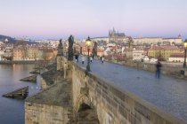 Charles Bridge on Vltava River — Stock Photo