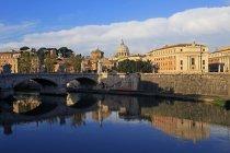 View across Tiber River — Stock Photo