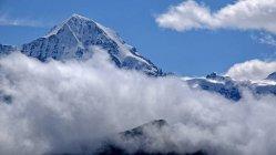 Jungfraujoch and Monch, Grindelwald, Switzerland — Stock Photo