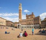 Piazza del campo, en Sienne — Photo de stock