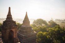 Temples à l'aube, Bagan — Photo de stock