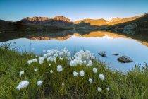 Lake Umbrail at sunset — Stock Photo