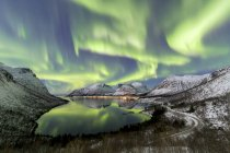 Aurora boreal, aurora boreal - foto de stock