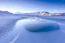 Fotógrafo admira lago — Fotografia de Stock