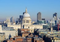 St. Pauls Cathedral and City of London — Stock Photo