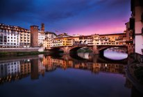 Ponte Vecchio at sunset — Stock Photo