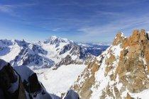 Mont Blanc 4810m, Chamonix — Stock Photo