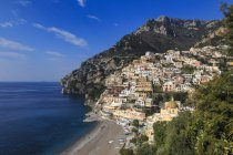 Elevated view of Positano town — Stock Photo