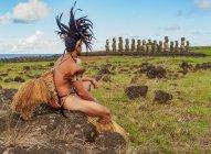 Native Rapa Nui man — Stock Photo