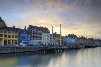 Harbour in district of Nyhavn — Stock Photo