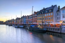 Harbour and canal of Nyhavn — Stock Photo