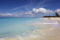 Піски Грейс Providenciales в затоці — стокове фото