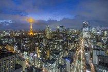 Kultige beleuchteten Tokyo Tower — Stockfoto