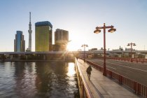 Skytree on Sumida River — Stock Photo