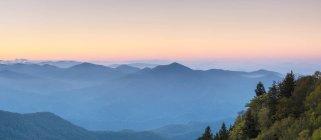 Blue Ridge Mountains на заході сонця — стокове фото