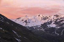 Glacier Forni at sunrise — Stock Photo