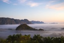 Vinales Valley in mist — Stock Photo