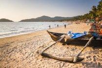Palolem Beach ao pôr do sol — Fotografia de Stock