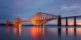 Forth Rail Bridge at sunrise — Stock Photo