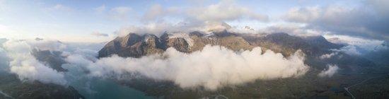 Panoramic of Piz Arlas — Stock Photo