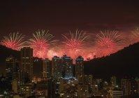 New Years Fireworks over Rio de Janeiro — Stock Photo