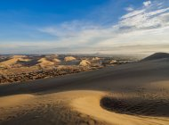 Sand dunes of Ica Desert — Stock Photo