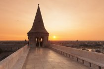 Fisherman Bastion at sunrise — Stock Photo