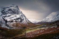 Glencoe гори взимку — стокове фото