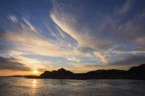 Закат над Внутренние Гебриды — стоковое фото