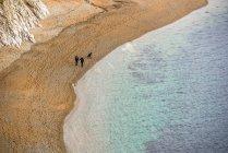 Plage de sable sur la côte jurassique — Photo de stock