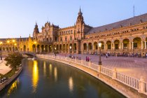 Plaza de Espana at dusk — Stock Photo