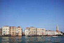 Historic Venetian buildings on the Grand Canal, Venice, Veneto, Italy — Stock Photo