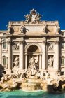 Berühmten Fontana di Trevi, Rom, Latium, Italien — Stockfoto