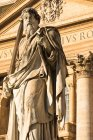 Prominent statue of Saint Paul in front of Saint Peters Basilica, Vatican City, Rome, Lazio, Italy — Stockfoto