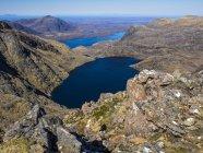 Mhaighdean саммит хребет, нагорье, Шотландия, Соединенное Королевство — стоковое фото
