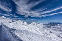 Campo Imperatore plateau in winter, Gran Sasso e Monti della Laga, Abruzzo, Apennines, Italy — Photo de stock