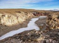 Caracoles Canyon, perto da cidade de Perito Moreno, província de Santa Cruz, Patagônia, Argentina, Sul América — Fotografia de Stock