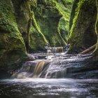 Gola a Finnich Glen vicino Killearn, Stirlingshire, Scozia, Regno Unito, Europa — Foto stock