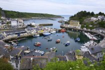 Picturesque harbour at Luarca with moored boats, Asturias, Spain, Europe — Stock Photo