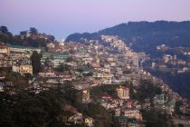 View of old city at dusk, Shimla (Simla), Himachal Pradesh, India, Asia — Stock Photo