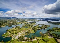 Aerial view of Embalse del Penol skyline, Antioquia Department, Colombia, South America — Stock Photo