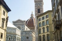 Exterior of ornate The Duomo Cathedral in Florence, Tuscany, Italy, Europe — Stock Photo