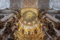Прикрашені стелі з куполом в кафедральній катедрі інтер'єрів, Гренада, Андалусія, Іспанія, Європа — стокове фото