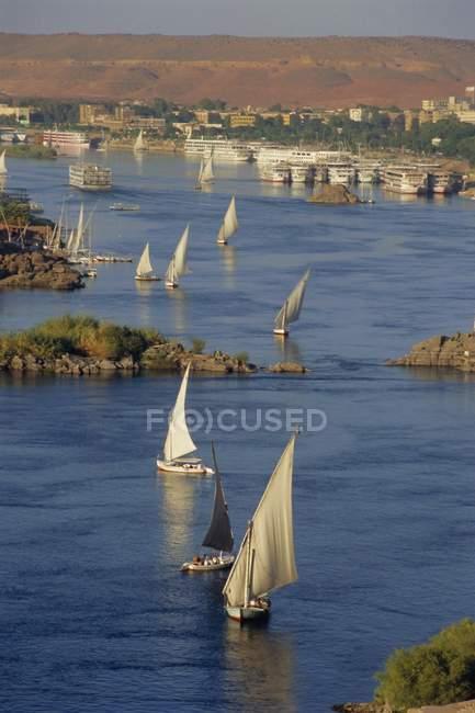 Feluche sul Nilo — Foto stock