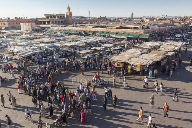 Jemaa El Fna at dusk, Marrakesh — Stock Photo