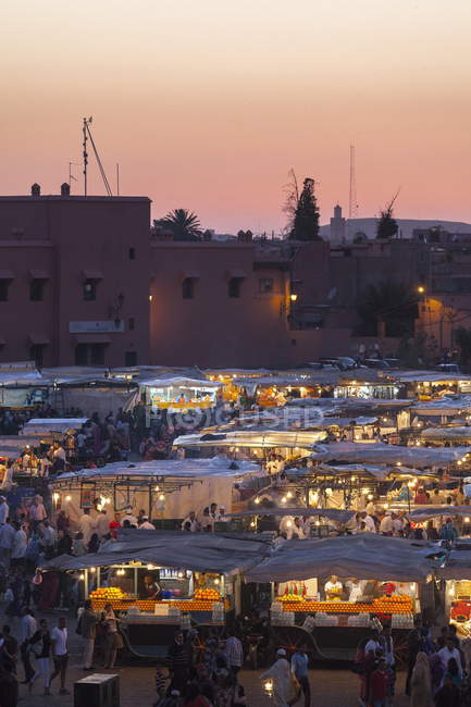 Food stalls in Marrakesh — Stock Photo
