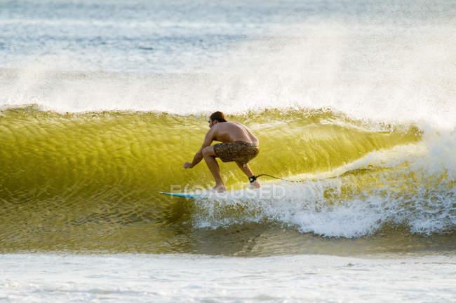 Surfista en ola de mar - foto de stock