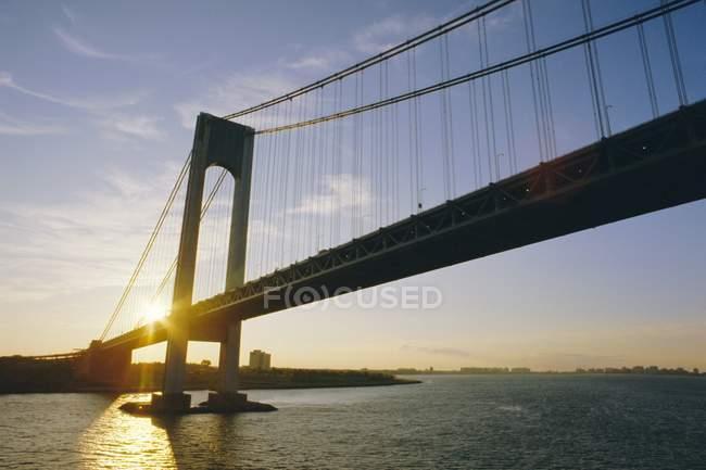 Verrazano estreita a ponte — Fotografia de Stock