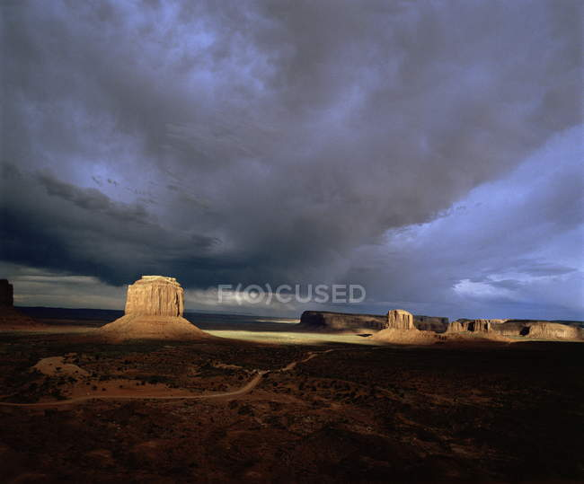 Observing view of monument Valley — Stock Photo